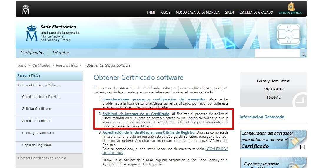 Certificado de Convivencia DNI digital solicitud