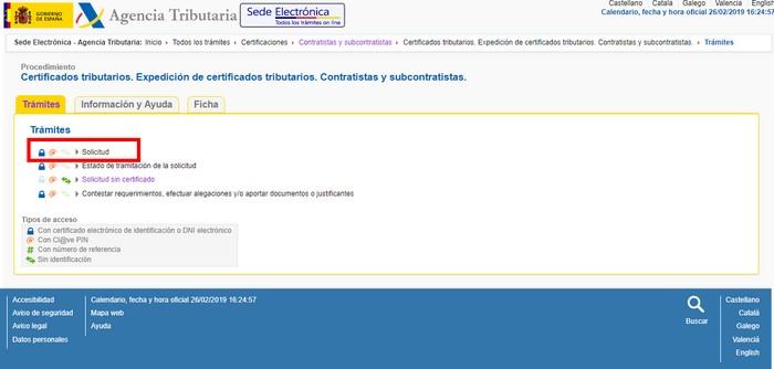 Certificado de contratista con certificado digital